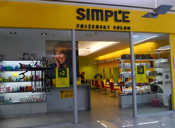 Frizerski salon SIMPLE - Ljubljana Supernova