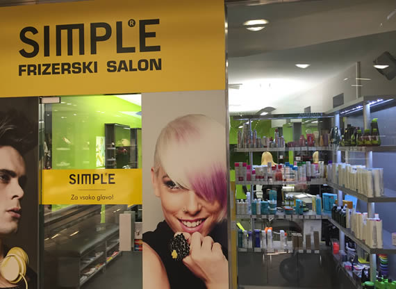 Frizerski salon SIMPLE - Ljubljana-Šiška-Mercator-center
